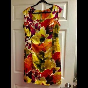 Apt. 9 Dresses - APT 9 flower pattern sleeveless dress size 14